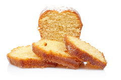 Parts de gâteau reflétées images libres de droits