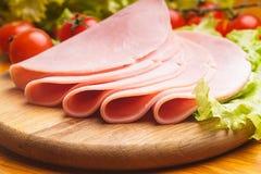 Parts de jambon Photographie stock libre de droits