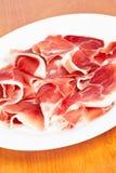 Parts de jambon espagnol Photographie stock libre de droits
