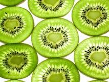 Parts de kiwi de forme d'amour Image libre de droits