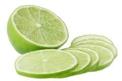 Parts de limette de citron image libre de droits