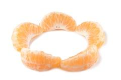 Parts de mandarine Image stock