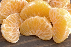 Parts de mandarine Photo stock