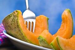 Parts de melon image stock