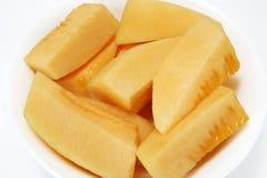 Parts de melon de roche photos stock