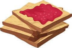 Parts de pain illustration libre de droits