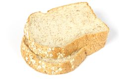 Parts de pain de blé entier Photos stock