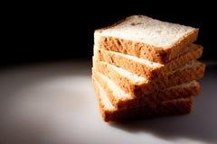 Parts de pain blanc Photographie stock libre de droits