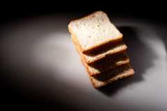 Parts de pain blanc Photo stock