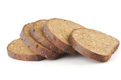 Parts de pain brun photo libre de droits
