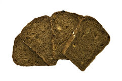 Parts de pain d'isolement Photographie stock