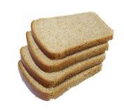 Parts de pain d'isolement Photos libres de droits