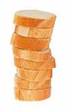 Parts de pain de baguette Image libre de droits