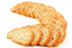 Parts de pain traditionnel Image stock