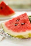 Parts de pastèque Photographie stock libre de droits