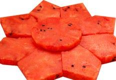 Parts de pastèque Photo stock
