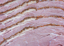 Parts de pastrami image stock