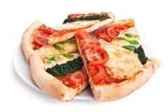 parts de pizza photo stock