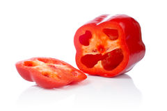 Parts de poivron rouge Image stock