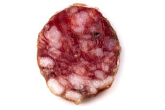 Parts de salami photo stock