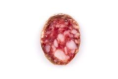 Parts de salami photographie stock libre de droits