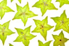 Parts de Starfruit (carambolier) Images libres de droits