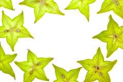 Parts de Starfruit (carambolier) Photos libres de droits
