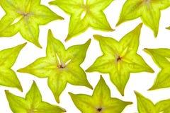 Parts de Starfruit (carambolier) Image libre de droits