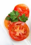 Parts de tomate Photo stock