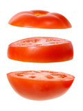 Parts de tomate Images libres de droits