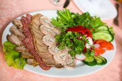 Parts de viande image stock