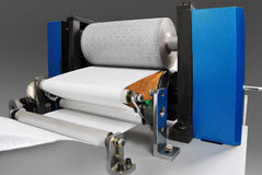 Parts and details of printing machine. stock photos