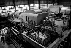 Parts and details of an steam turbine Royalty Free Stock Photography