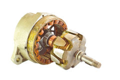 Parts of electric generator Stock Images