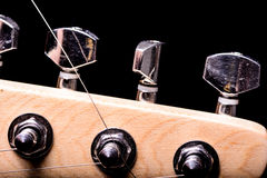 Parts of electric guitar Stock Image