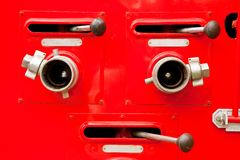 Parts of fire engine Stock Photos