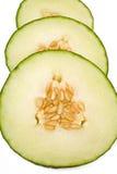 Parts fraîches de melon Image libre de droits