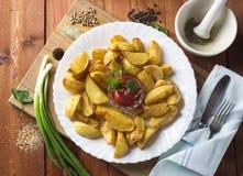 Parts frites de pomme de terre photos libres de droits
