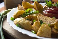 Parts frites de pomme de terre photos stock