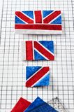 Parts of future pincushion viewing like union jack flag royalty free stock photography