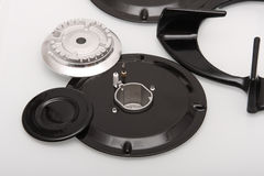 Parts of gas burner Royalty Free Stock Image
