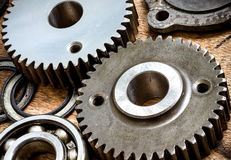 Parts and gears. Made from special hard steel Royalty Free Stock Photo
