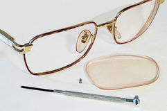 Parts of glasses Stock Photography