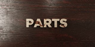 Parts - grungy wooden headline on Maple - 3D rendered royalty free stock image. This image can be used for an online website banner ad or a print postcard vector illustration