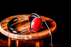 Parts of headphones Royalty Free Stock Photography