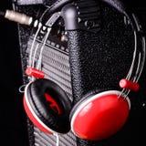 Parts of headphones Stock Photo