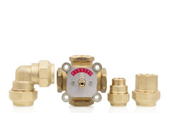 Parts of the heating system Royalty Free Stock Images