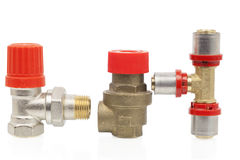 Parts of the heating system Stock Image