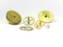 Parts of hours small and large gears Stock Photos