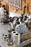 Parts of hydraulic pumps Royalty Free Stock Photo